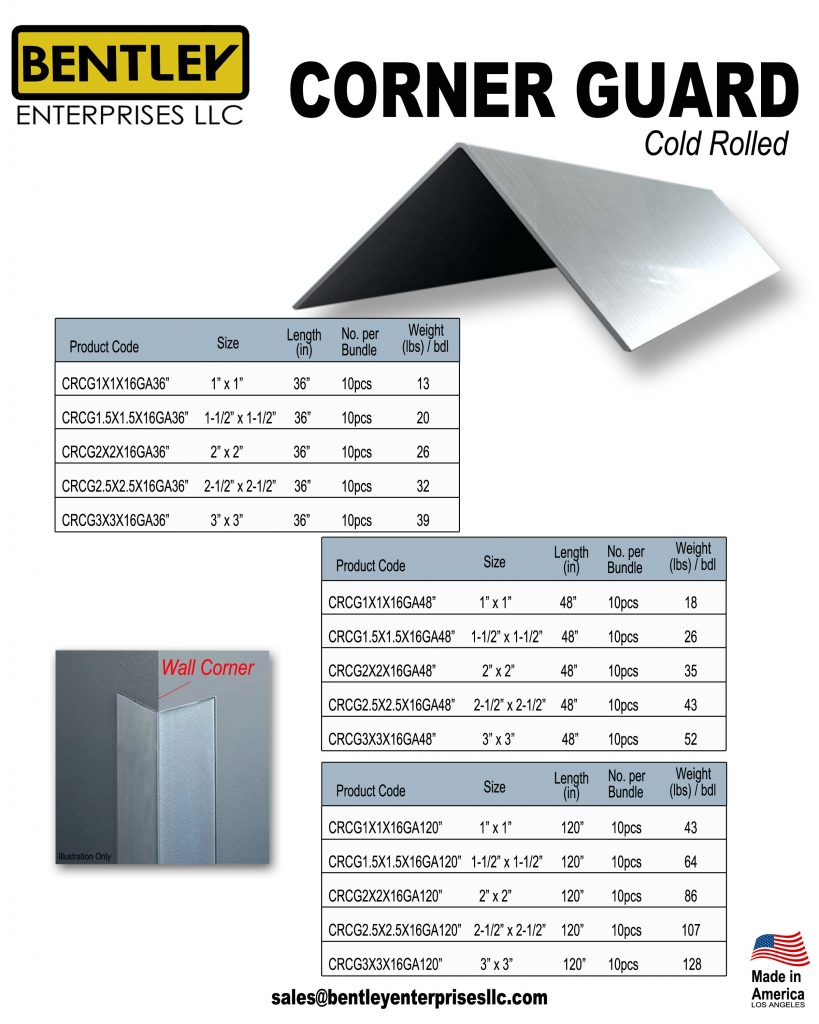 Cold Rolled Corner Guard